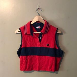 tommy hilfiger cropped muscle tee polo